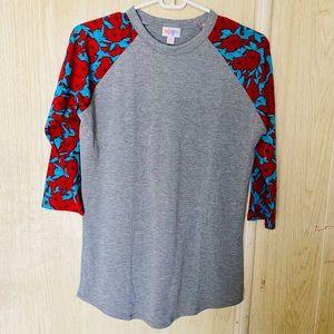 LULA ROE Gray Raglan T-shirt Size XS